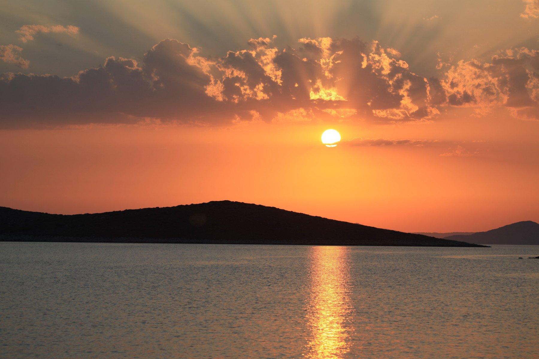 Σκάντζουρα - ηλιοβασίλεμα